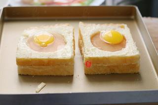 培根鸡蛋烤吐司的做法步骤:5
